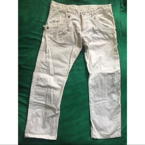 Gazzarrini Straight Leg White Denim Jeans Pants